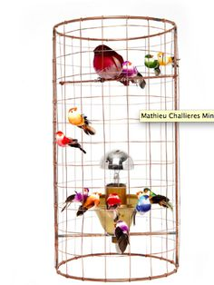MATHIEU CHALLIERES birdcage table lamp