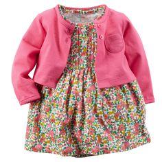 2-Piece Bodysuit Dress & Cardigan Set   Carters.com