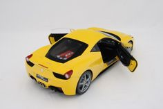 Ferrari 458 Italia - Yellow Model Car in 1:8 Scale by Amalgam