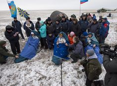 Expedition 41 Crew Lands Safely Back on Earth | NASA. outside the Soyuz TMA-13M capsule just minutes after they landed in a remote area near the town of Arkalyk, Kazakhstan on Monday, Nov. 10, 2014. Suraev, Wiseman and Gerst returned to Earth after more than five months onboard the International Space Station