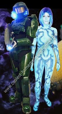 coolest homemade halo 3 master chief and cortana costumes - Halo Reach Halloween Costume