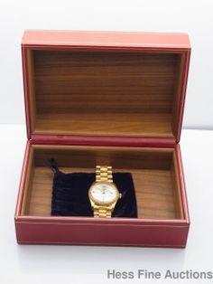 Early 1962 Fine bark 1807 1556 Mens 18k Gold President Rolex Day Date Watch Box