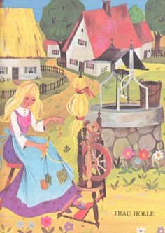 Illustrations from Grimm's Fairy Tales [Frau Holle I]