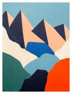 Mountain #07 - Severine Dietrich - illustration - art