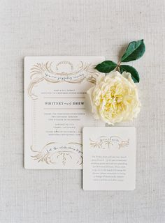 #Rehearsal dinner invites by @Maria Canavello Mrasek Canavello Mrasek Rolfsen of #tupelohoneydesign. | See the wedding on SMP: http://www.StyleMePretty.com/2014/02/06/elegant-carmel-wedding-with-photography-by-jose-villa/ Photography: Jose Villa