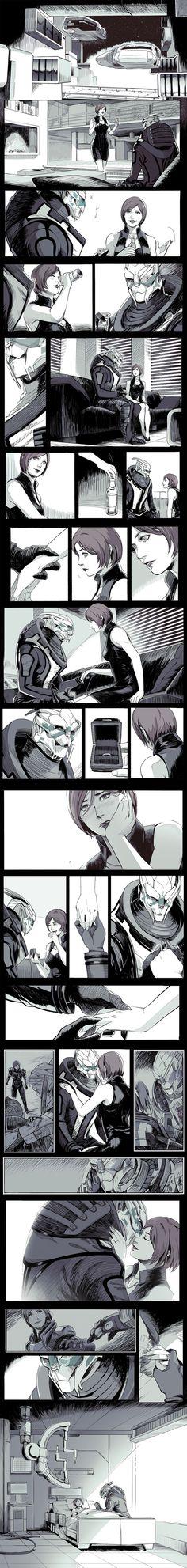 Mass Effect,фэндомы,Garrus,ME персонажи,Femshep,ME комиксы,wei723