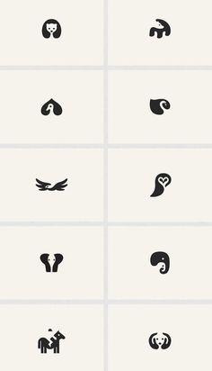 Adorable Negative Space Animal Logos