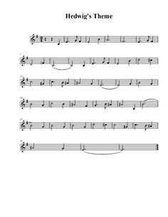 sheet music - hedwig's theme