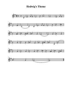 sheet music - hedwig's theme
