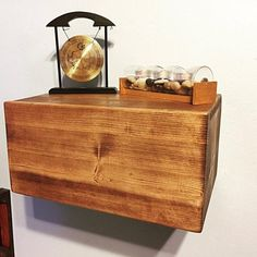 Floating Nightstand with Drawer Floating Nightstand, Floating Shelves, Arkansas, Small Master Bedroom, End Tables, Drawers, Primary Colors, Rustic, Hobby