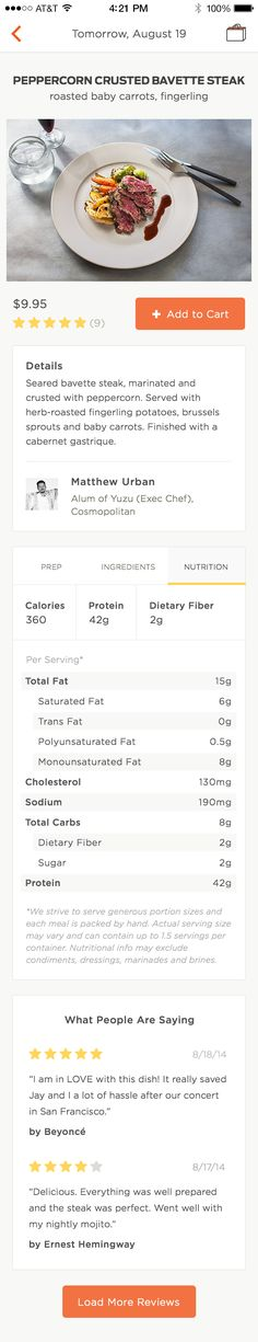 Nutrition Facts by Nate Navasca for Munchery