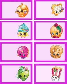 shopkins food labels and Shopkins Party Printables via Mandy's Party Ideas