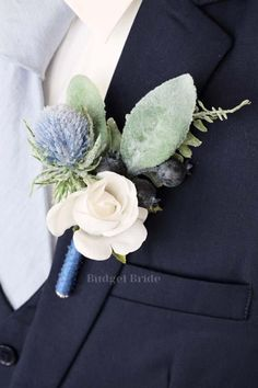 Winter Boutonniere, Thistle Boutonniere, Thistle Bouquet, Prom Corsage And Boutonniere, Groomsmen Boutonniere, Corsage Wedding, Corsages, Wedding Bouquets, Mother Of The Bride Flowers