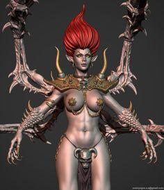 Andariel Diablo 2 - polycount