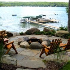 Fire pit and dock... someday