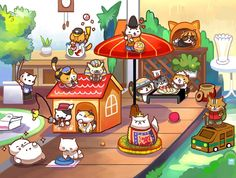 All the rare cats from Neko Atsume. The art print will be available at Anime Expo 2015 Artist Alley table Rare Cats, Cats And Kittens, Neko Atsume Kitty Collector, Manga Anime, Anime Expo, Pokemon, Kitty Games, Cat Games, Cat Drawing