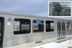 Looking up in Fulton Market? Check out Google Chicago's newest rooftop feature — an old CTA train car.