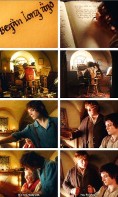 Frodo finished the story.