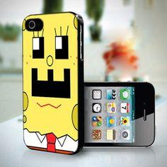 Funny Spongebob Face design for iPhone 5 case