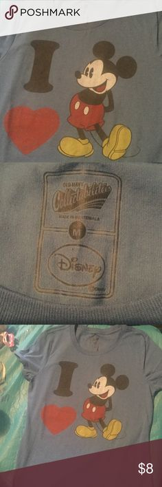 Mickey Mouse Classic Style T-Shirt Blue shirt Excellent nearly new condition Cotton/Poly Blendfinal markdownno other discounts unless you bundle  Old Navy Tops Tees - Short Sleeve