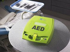 An AED is a portable