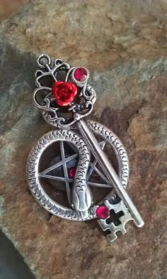 Pentacle Guardian Fantasy Key by Starl33na.deviantart.com on @deviantART