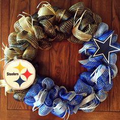 DYI NFL House Divided Wreath