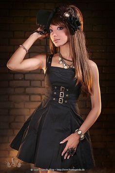 Steampunk Kleid Golden Steam Buckle Dress