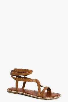 #boohoo Leather Wrap Strap Sandal - tan DZZ62203 #Amber Leather Wrap Strap Sandal - tan