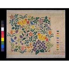 Design for textile, C. F. A. Voysey