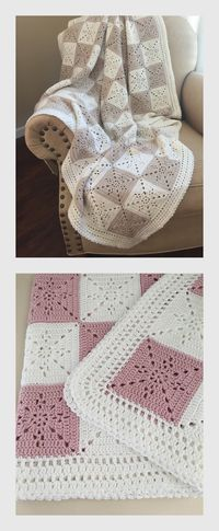 Crochet Blanket Pattern - Arielle's Square - Crochet Baby Blanket Pattern - Easy Granny Square Pattern - Throw Afghan - Crochet Patterns Beautiful Crochet Baby Blanket or Throw Pattern by Deborah O'Leary Patterns Square Patterns, Afghan Patterns, Crochet Blanket Patterns, Baby Blanket Crochet, Crochet Stitches, Baby Afghans, Crochet Blankets, Easy Baby Blanket, Easy Patterns