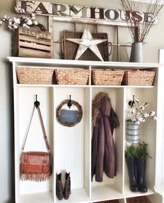 Fall cubby decor IG @bless_this_nest
