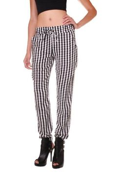 Crystal Vogue Womens Challis Print Elastic Waist Harem Pant $20