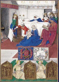 Saint Jean-Baptiste    Heures d'Étienne Chevalier, enluminées par Jean Fouquet  Musée Condé, Chantilly, © R.-G. Ojeda, RMN/musée Condé, Chantilly