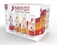 Barefoot Wine-Based Hard Seltzer Seen Attracting New Wine Consumers Barefoot Bubbly, Strawberry Guava, Gram Of Sugar, Wine Packaging, New Flavour, Natural Flavors, Vodka, Alcoholic Drinks, Peach