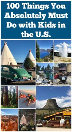 100 Things You Absolutely Must Do with Kids in the U. 100 Things You Absolutely Must Do with Kids in the U. 100 Things You Absolutely Must Do with Ki Places To Travel, Places To Go, Travel Destinations, Travel With Kids, Travel Usa, Canada Travel, Summer Travel, Travel Couple, Family Travel