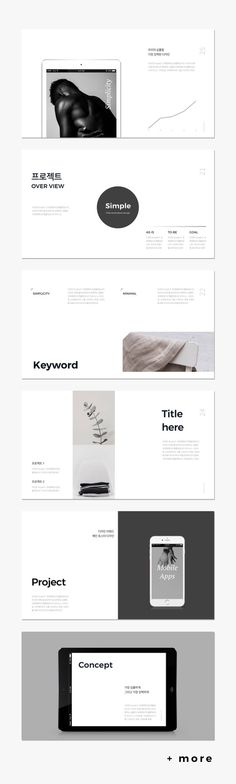 Awesome Simple & Minimal Presentation Template #keynote #presentation #portfolio #business #marketing