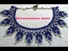 Браслет из бисера.  Часть 1 из 3.  Сеточное плетение.  Бисероплетение  Мастер класс - YouTube African Beads Necklace, Beaded Necklace, Beading Tutorials, Beading Patterns, Necklace Tutorial, Beading Supplies, Loom Beading, Hobbies And Crafts, Bead Weaving