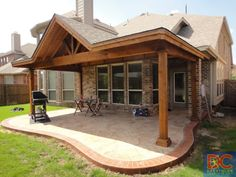 Shed with Gable Patio Covers Gallery - Highest Quality Waterproof Patio Covers in Dallas, Plano and Surrounding Texas Tx. Shed with Gable Patio Covers Gallery - Highest Quality Waterproof Patio Covers in Dallas, Plano and Surrounding Texas Tx. Patio Pergola, Casa Patio, Pergola With Roof, Pergola Shade, Patio Roof, Pergola Plans, Pergola Kits, Pergola Ideas, Porch Roof Design