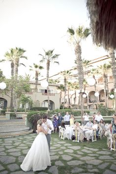 Cabo San Lucas Mexico wedding. This destination provides a bright ans sunny backdrop making every photo look lovely. The old architecture also adds depth to the scene.