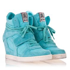 Womens Cool Wedge Sneaker Celadon Suede/Canvas 330012  Must have for springtime play ;)