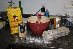 Elf on the Shelf baking