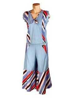 women's high fashion beach pajamas 1930's - CLICK to enlarge