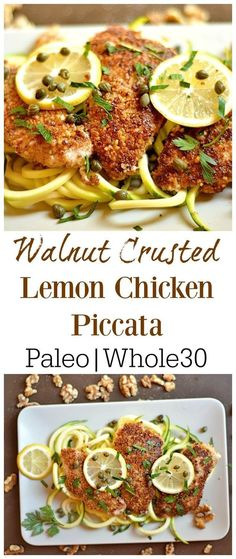 Crusted Lemon Chicken Piccata 20 minute, One pan dish that is packed with flavor! GF version of traditional Chicken Piccata. & Paleo minute, One pan dish that is packed with flavor! GF version of traditional Chicken Piccata. Whole 30 Diet, Paleo Whole 30, Whole 30 Recipes, Whole 30 Chicken Recipes, Whole 30 Chicken Breast Recipe, Whole30 Recipes Chicken, Poulet Piccata, Paleo Recipes, Real Food Recipes