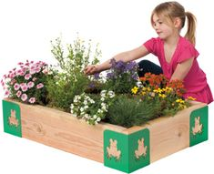 garden for kids - or a stylish sandbox!