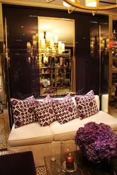 Tory Burch NY Store   But Also A Dream Living Room Set Up   Purple Pillows Part 74