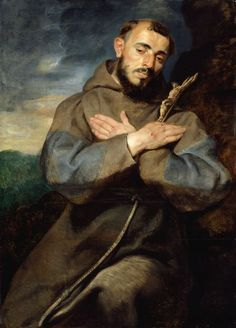 St, Francis of Assisi, by Peter Paul Rubens (Flemish, Peter Paul Rubens, Catholic Art, Catholic Saints, Religious Art, Francis Of Assisi, St Francis, Pedro Pablo Rubens, Baroque Art, Art Institute Of Chicago