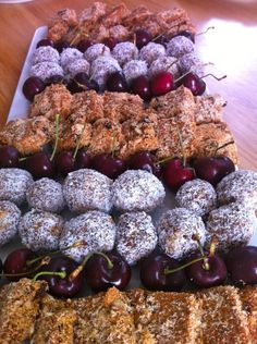 Paleo Muesli Bars - party finger food #finger #foods I love how this is set on tray for ur wedding mandy