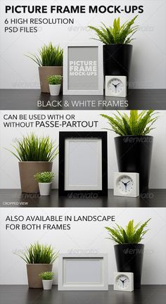 Picture Frame MockUp — Photoshop PSD #picture #black • Available here → https://graphicriver.net/item/picture-frame-mockup/6829693?ref=pxcr