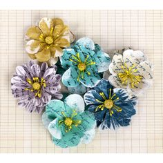 Prima Marketing Labelle Paper Flowers Ocean